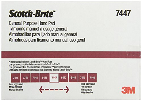 3M Scotch-Brite General Purpose Hand Pad, 6-Inch by 9-Inch, 20-Pad by 3M