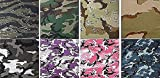 8 Pack - Jumbo Camouflage Military Bandanas 100% Cotton Headwraps 27'' x 27''