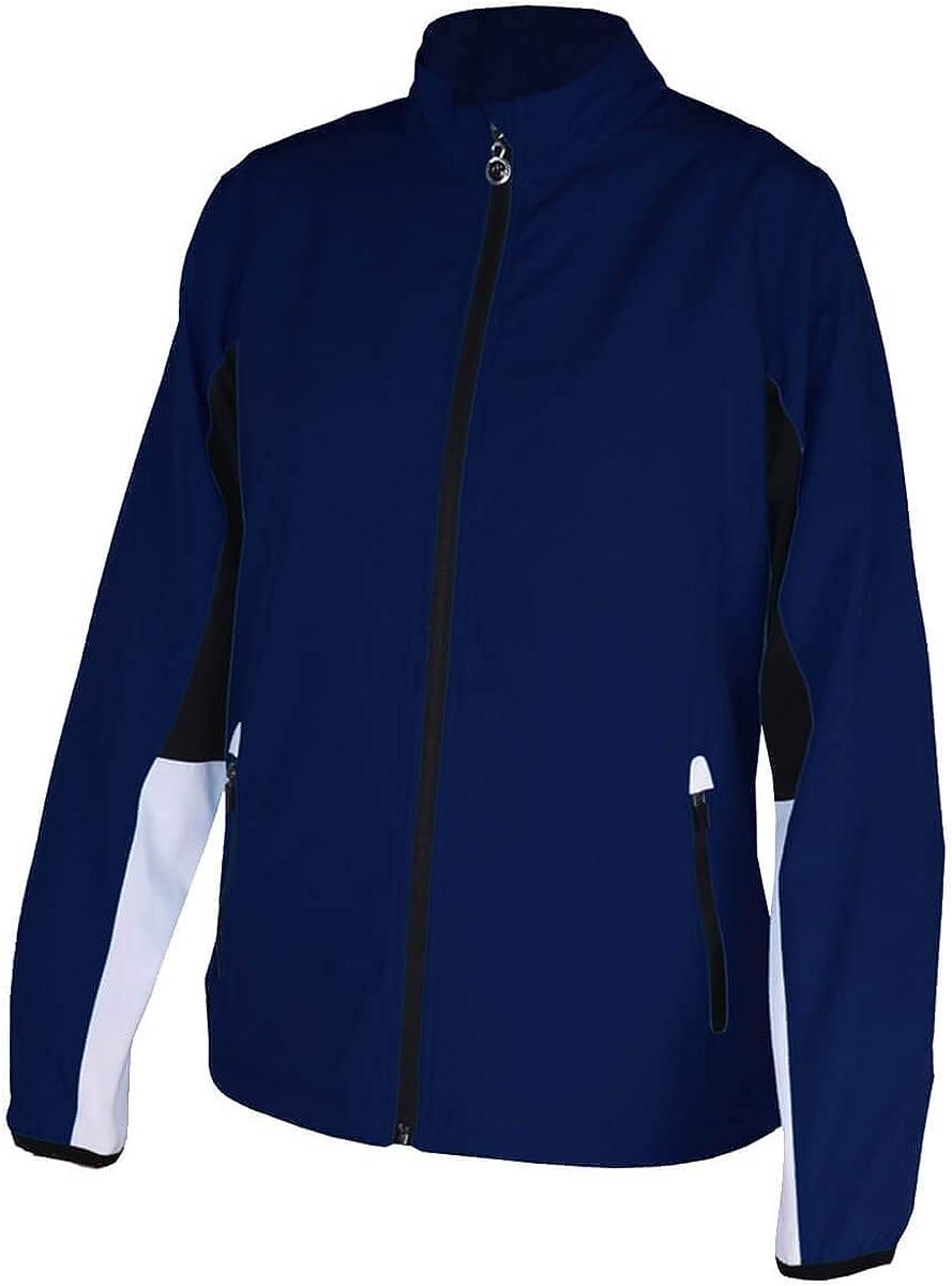 Island Green Golf Full Zip Water Repellent Mid Layer Camiseta Mujer