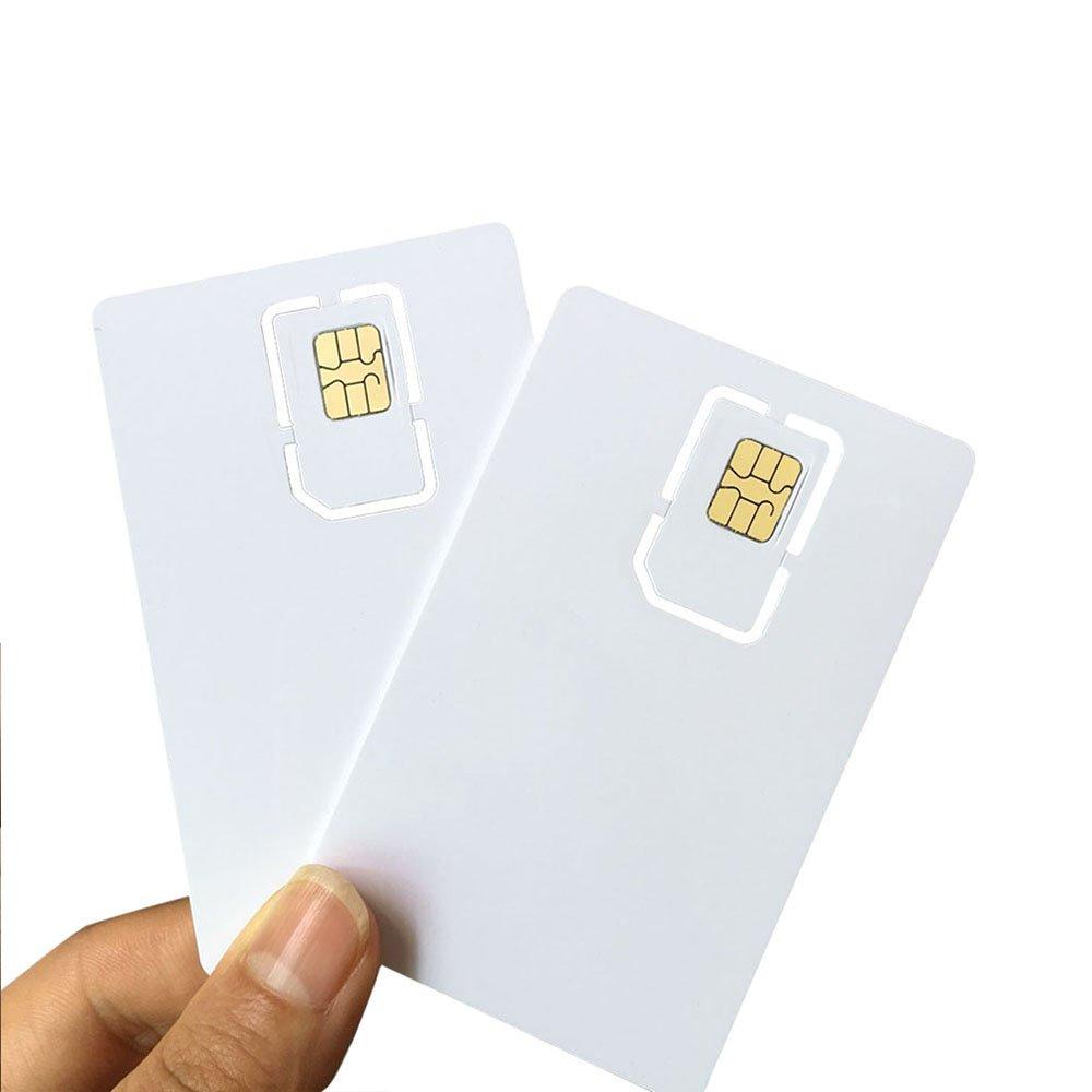 Carte SIM USIM programmable Ahongem - Nano et micro - 4 G -LTE - WCDMA G/M² - 2 FF 3 FF 4 FF - Pour opérateur Telecom (2 pièces)