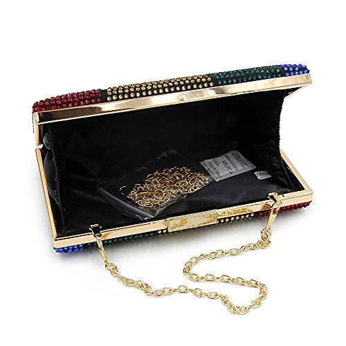 Colored Silk Handbags Superw Purse Evening Clutches Silver Women Party Crystal Chain Clutch Wedding Bag Bags Imitated qAIfE