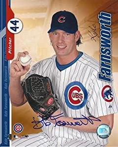 Signed 8x10 Photo Kyle Farnsworth Chicago Cubs - Autographed Baseball Photos