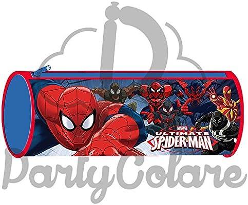 Tombolino Spiderman – Hombre Araña – Escuela Estuche vacío: Amazon.es: Oficina y papelería