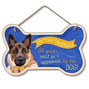Highland Graphics Decorative Bone Sign: German Shepherd by Highland Graphics
