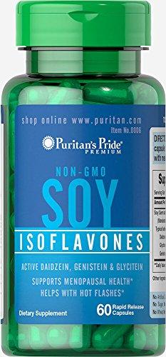 Puritan's Pride Non-GMO Soy Isoflavones 750 mg-60 Rapid Release Capsules ()