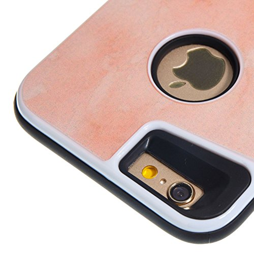 """HYAIT® For IPHONE 6 4.7"""" Case[Marble][Kickstand] TPU+PC Premium Hybrid Shockproof Kickst Bumper Full-body Rugged Dual Layer Stents Cover-DLS03"""