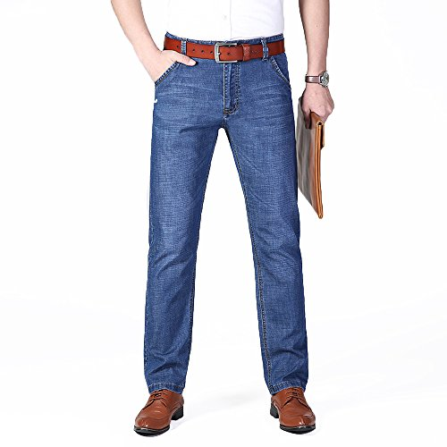 XYJD Men's Straight Barrel Jean for Business and Leisure in Summer by XYJD (Image #3)