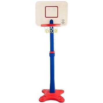 GYMAX Soporte de Baloncesto Portátil y Ajustable (200-305 cm, con ...