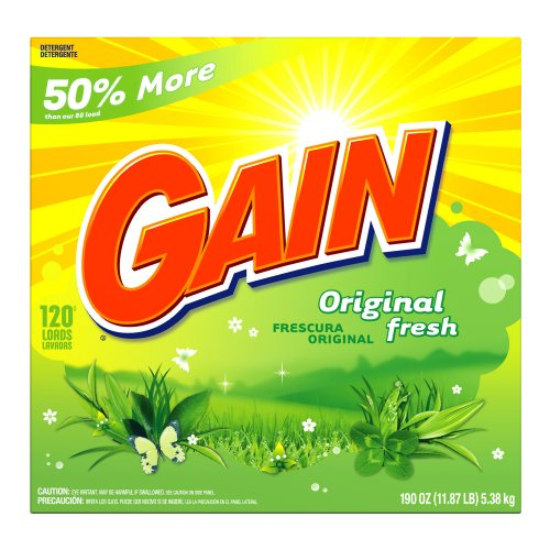 120 Load Box - Gain Powder Detergent, Original Fresh Scent, Case Pack, 120-Load Boxes (Pack of 2)