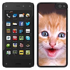 EJOY---Cubierta de la caja de protección para la piel dura ** Amazon Fire Phone ** --Gatito americano de pelo corto para mascotas lindo