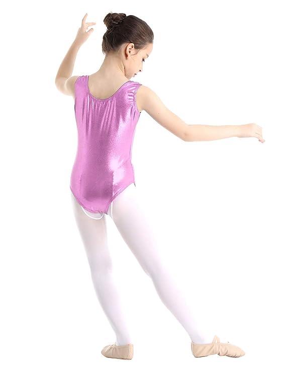 Tiaobug Enfant Garcon Fille Justaucorps De Danse Gymnastique Ballet Sport Yoga Maillot De Bain Bodysuit Body Combinaison Sans Manche Leotard Dansewear 2 10 Ans Vetements De Sport Danse Sou L Jp