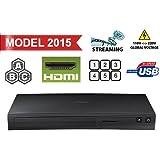 Gebogener SAMSUNG BD-J5100 MultiZone Blu-Ray-Player, Region-free, Code-free, spielt DVD-Regionen 0, 1, 2, 3, 4, 5, 6, 7, 8, PAL/NTSC, Blu-Ray-Zonen A/B/C, Xvid-, AVI-, Divx- & MKV-Formate, 100-240 V, 50/60 Hz, inkl. HDMI-Kabel