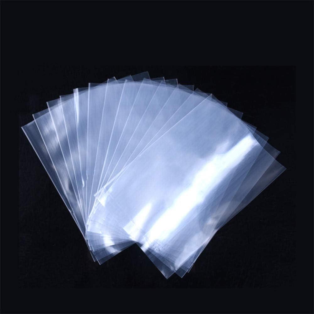 SummerXYH 10 Bolsas de Alimentos de Bolsillo Plano Transparente de Seda Bolsa de Accesorios de automóviles de Bienes industriales Bolsa de plástico Abierta 100
