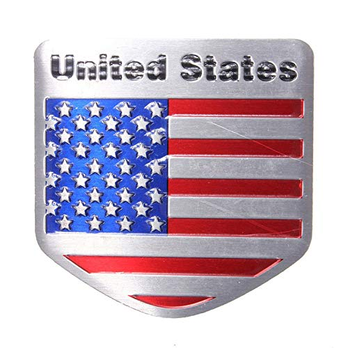 FidgetFidget Unique Auto Refitting Car Badge Emblem Decal Sticker Fit for US USA American
