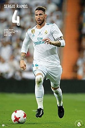 1art1® Fútbol - Real Madrid, Sergio Ramos Acción 2017/18 Póster (91 x 61cm): Amazon.es: Hogar