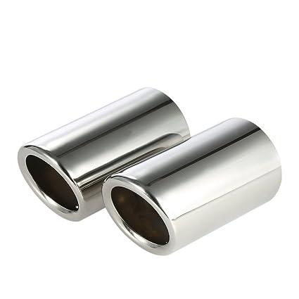 KKmoon YOK4298168123550CI - Tubo de Escape Acero Inoxidable para Silenciador