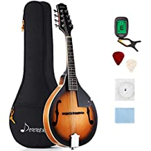 Donner A Style Mandolin Instrument Sunburst Mahogany DML-1 With Tuner String Big Bag and Guitar Picks