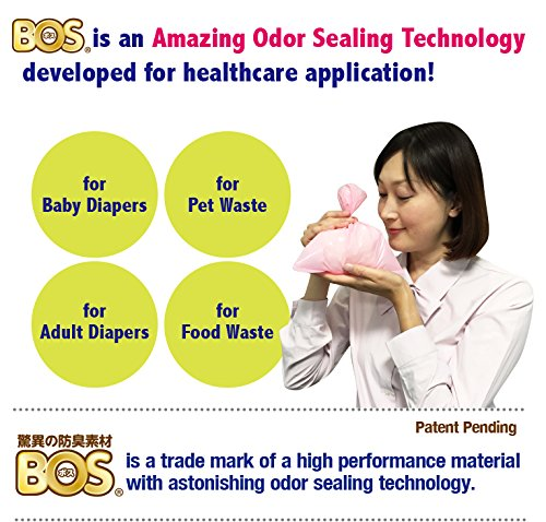 BOS Amazing Odor Sealing Baby Disposable Diaper Bags, Also for Pet Waste or Any Sanitary Product Disposal - Durable and Unscented (200 Bags) [Size: XS, Color: Pink]