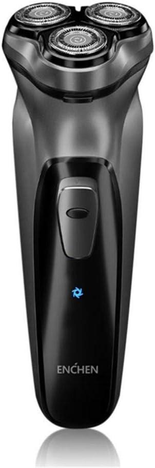 Afeitadora Eléctrica para Hombre Rotativa,para ENCHEN Afeitadora Barba,Cabezal de Corte Flotante Independiente en 3D,Bloqueo Inteligente,Carga USB,Recortador de Precisión Extraíble