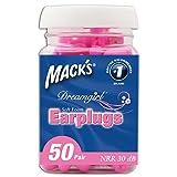 Mack's Ear Care Dreamgirl Soft Foam Earplugs, 50 Count