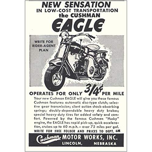 RelicPaper 1951 Cushman Eagle: New Sensation, Cushman Motor Works Print Ad