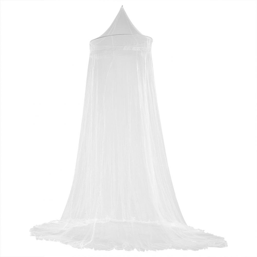 Lace Round Hoop Mosquito Net Tent Mosquito Net Anti Mosquito Baby Child Bed Netting Bedspread Canopy Fit Crib, Twin, Full, Queen Bedding Huhushop