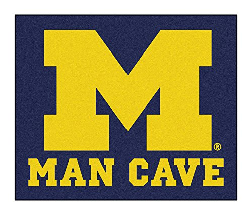 Fan Mats 14670 University of Michigan Wolverines 5' x 6' Man Cave Tailgater Mat by Fanmats