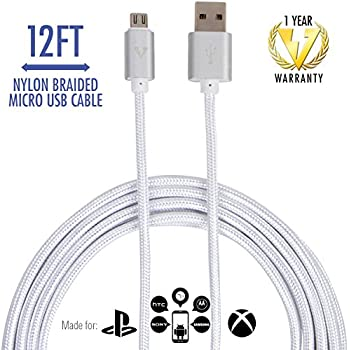 Amazon.com: Android Charging Cable, 15ft PS4 Xbox One Controller ...