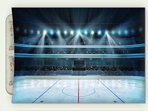 Tinkerbell Stadium - Custom Flannel Throw Blanket Hockey Stadium with Fans Crowd and an Empty Ice Rink Sport Arena Rendering My Own Design Autumn Winter Warm HD Digitals Print Blanketry, 47
