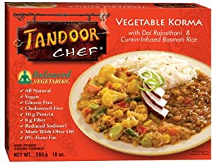 Tandoor Chef Vegetable Korma with Dal Rajastani and Cumin-Infused Basmati Rice, 10-Ounce Boxes (Pack of 12)