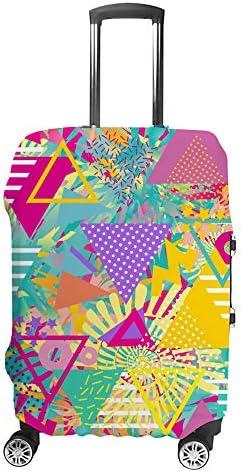 スーツケースカバー ポップアートの三角形 伸縮素材 キャリーバッグ お荷物カバ 保護 傷や汚れから守る ジッパー 水洗える 旅行 出張 S/M/L/XLサイズ