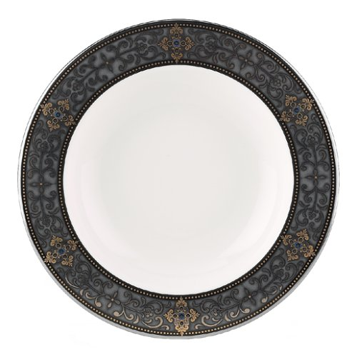 Bone China Rim - Lenox Vintage Jewel Platinum Banded Bone China Pasta Bowl/Rim Soup