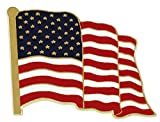 American Flag Lapel Pin Proudly Made in USA (100 Pack)