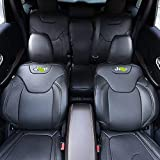 BEHAVE Car seat Covers,Custom Fit Seat Covers Fit for Jeep Cherokee 2015 2016 2017 2018,Pack of Leather Auto Seat Covers for SUV Full Set Saddle Cover, Back Cover, Headrest Cover