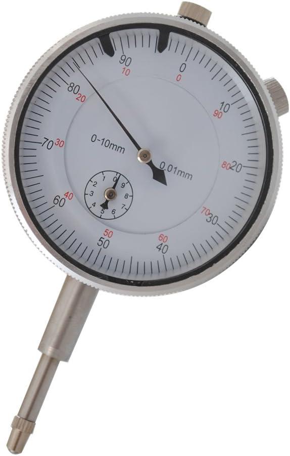 CCLIFE 0.01mm Reloj comparador métrico 0.01mm