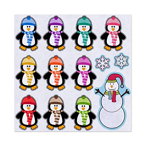 10 Little Penguins Build a Snowman Rhyme Felt Play Art Set Flannel Board Story Storyboard Pieces