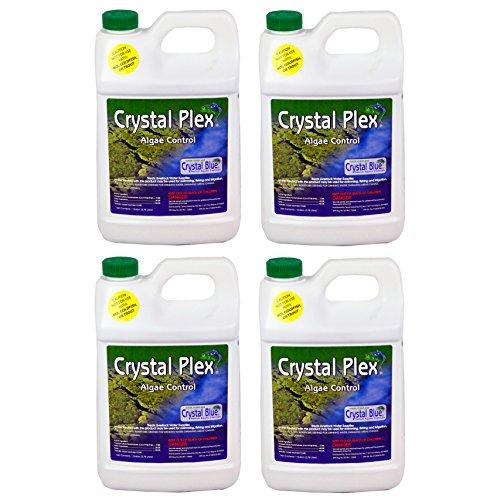 Sanco Liquid Copper Sulfate Crystal Plex 1 Gallon Algae Control, 4-Pack by Crystal Blue