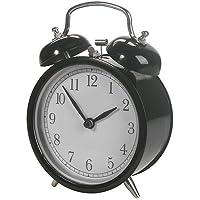 """IKEA""""Nostalji-alarmlı saat/kronometre"""" Dekad Analog çanlar çalar saat ile metal kasa ve ön cam–G x D x Y 10x 6x 14cm–piller dahil. AA-–Siyah ya da beyaz"""