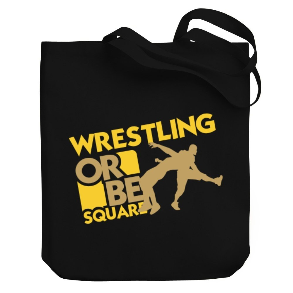Teeburon Wrestling OR BE SQUARE ! Wrestling Canvas Tote Bag by Teeburon