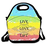 Black Live. Love. Lift6 Lunch Bags For Man And Woman