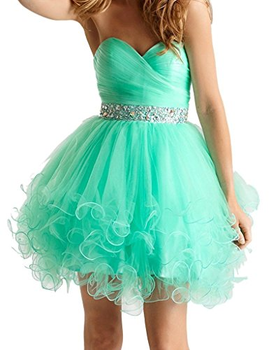 Snowskite Women's Mini Princess Strapless Homecoming Cocktail Party Dress Mint 8
