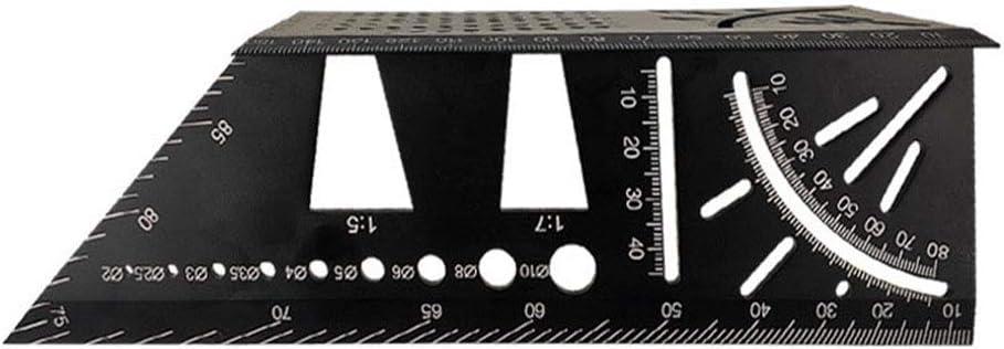 dgyl88 R/ègle dangle 45 /à 90 degr/és Outils Portable Pr/écision Marquage Jauge Carr/é Bois Accessoires Alliage dAluminium Mesure Multifonction M/étrique