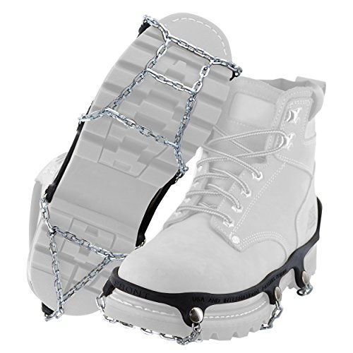 Yaktrax Traction Chains for Walking on Ice and Snow (1 Pair), Large