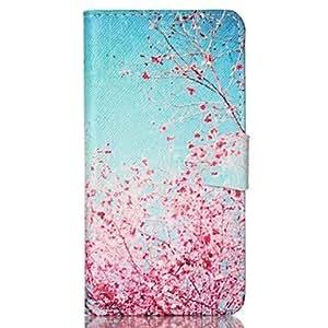 Cerezos en flor patrón de la caja de cuero de la PU con la ranura para tarjeta y soporte para Samsung Galaxy S4 Mini / s3mini / s5mini / ( Modelos Compatibles : Galaxy S3 )