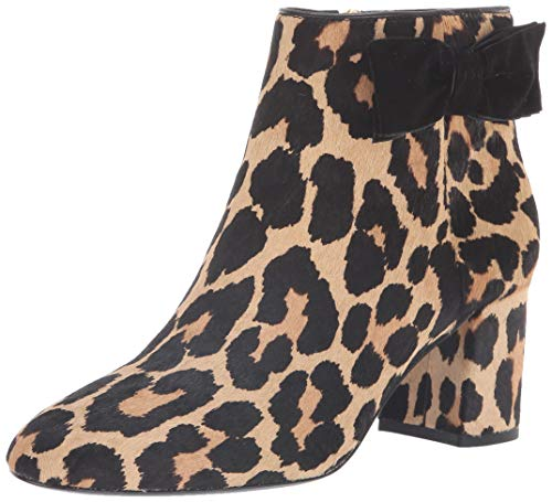 Kate Spade New York Women's Holly Bootie Ankle Boot, Amaretto/Black, 9.5 M US