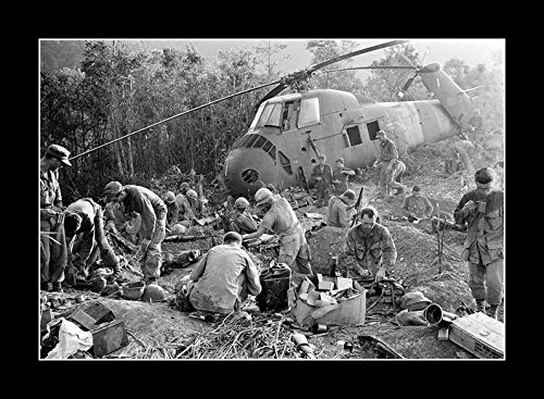 8 x 10 All Wood Framed Photo The Vietnam War In Picture 07 by Celebrity Framed Art (Image #2)