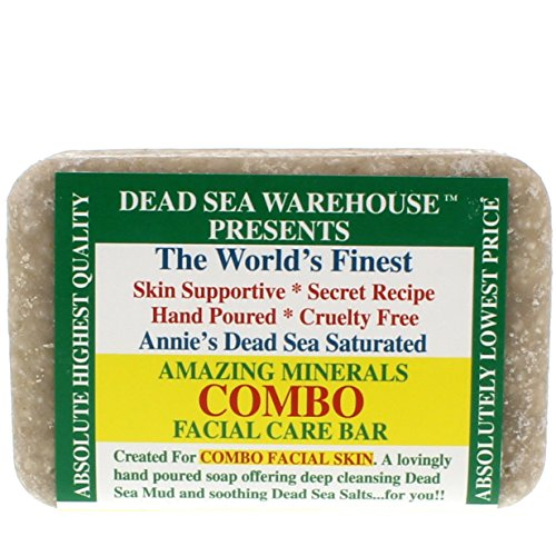 Dead Sea Warehouse - Amazing Minerals Combination Facial Skin Soap Bar, Hand Crafted with Deep Cleansing Dead Sea Mud & Soothing Dead Sea Salts (5.2 - Warehouse Skin