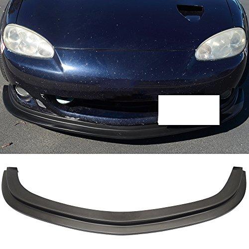 (Front Bumper Lip Spoiler Fits 2001-2005 Mazda Miata MX-5 MX5 | DS Style Black PU Front Bumper Lip Spoiler Bodykit Splitter Diffuser Air Dam Chin Diffuser by IKON MOTORSPORTS | 2002 2003 2004)