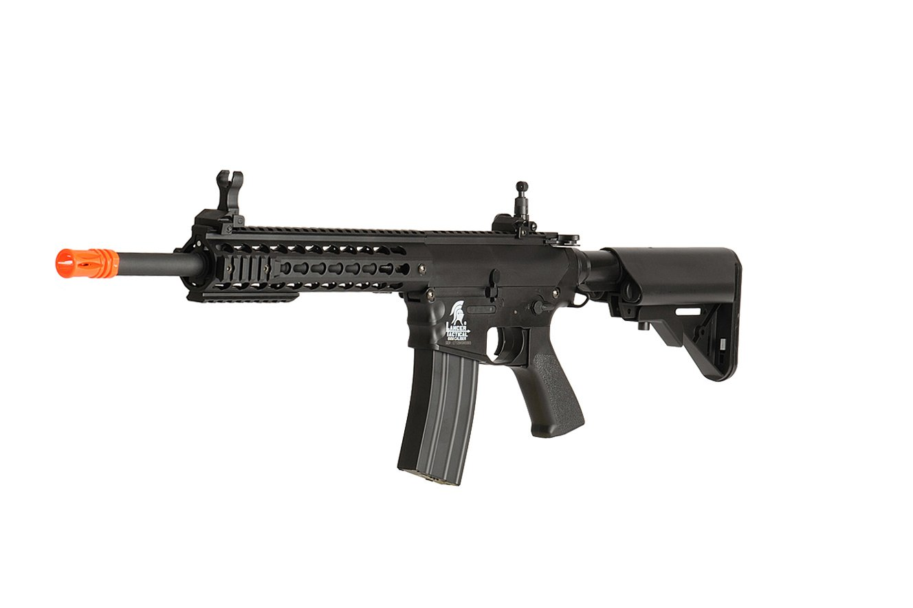 Lancer Tactical Airsoft LT-12BK AEG KeyMod 10-inch Polymer Edition - BLACK