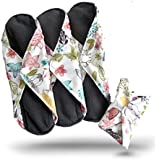 Heart Felt Extra-Large Reusable Menstrual Sanitary Pads with Bamboo-Charcoal (3 Pack)